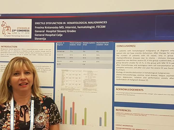 Frosina KRSTANOSKA, dr.med.spec.internist, hematolog, FECSM